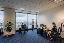 Collaborative 4-person Workspace With Views Looking Over Perth\'s Stunning Skyline