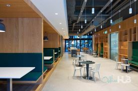 Modern commercial building  Food courts and shops nearby  Quality furnishings